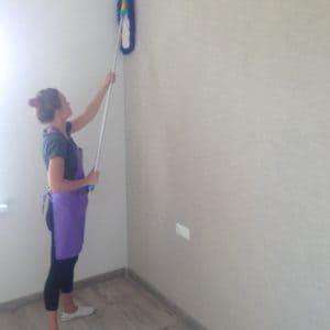 Уборка пыли со стен